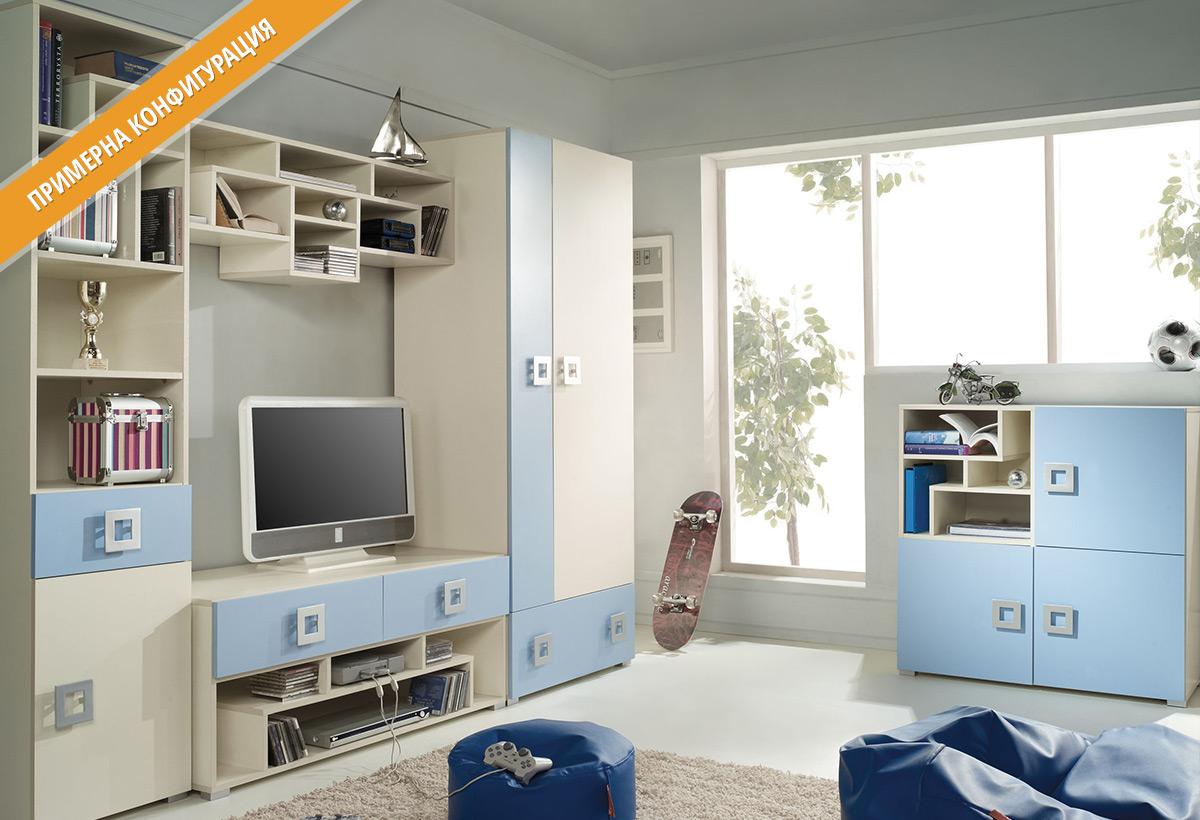 Модули за детско обзавеждане ЛАБИРИНТ в цветове Крем и Хоризонт