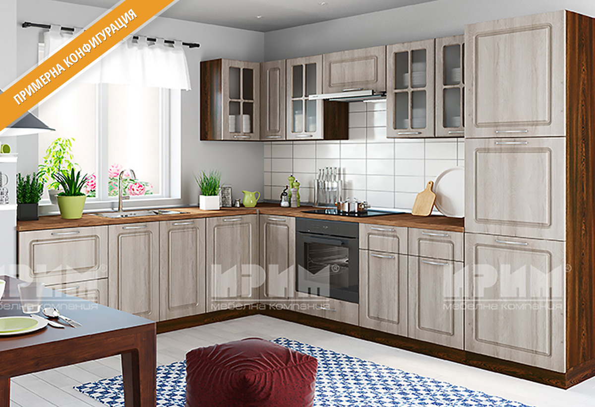 Кухненски шкафове и модули за модулна система - кухни СИТИ в цветове лице - Дъб сонома, Корпус - венге.