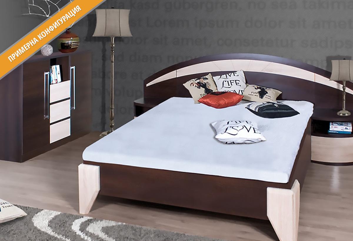 Модули за спално обзавеждане ДОМЕ в цветове Бор ларедо и Сонома
